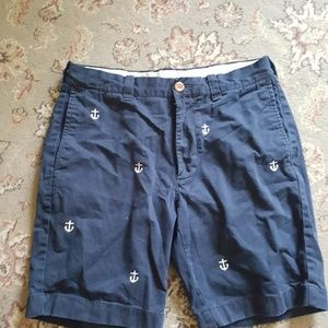 Mens sz 31 J Crew Nautical Anchor shorts